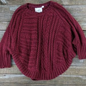 Anthropologie Angel of North Curved Cables sweater